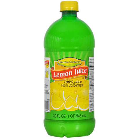 Riverton Orchards Lemon Juice, 32-oz. Bottles