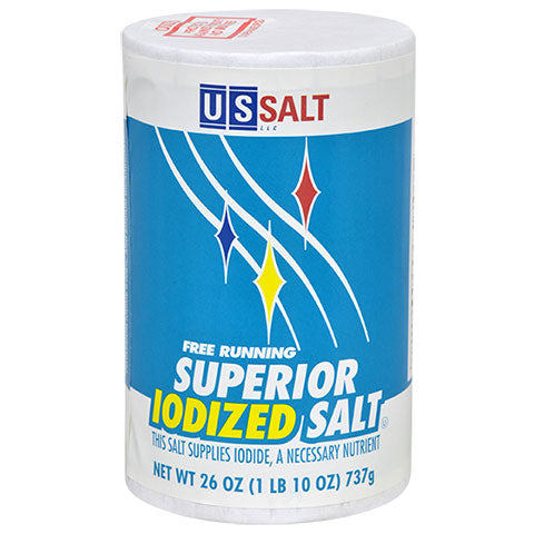 Salt Iodized Salt, 26-oz. Canisters