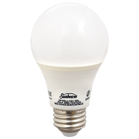 Sunbeam Warm White 9-Watt Medium Base LED Light Bulbs