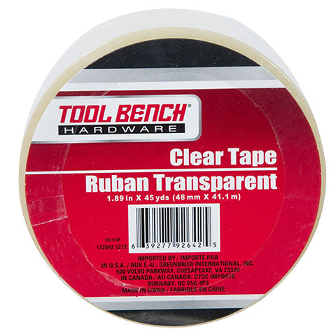 Tool Bench Clear Packaging Tape, 45-yd. Rolls