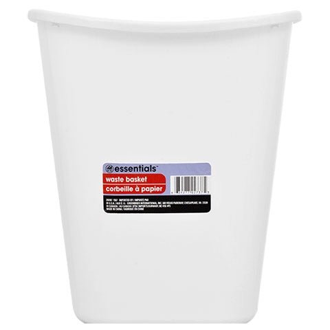 Essentials White Plastic Wastebaskets, 7 Qt.