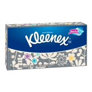 Kleenex Trusted Care Everyday Facial Tissues, Flat Box, 75 Tissues per Flat Box