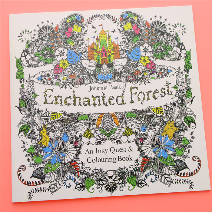 Enchanted Forest Book Coloring for Adults Kids Children 24 pages
