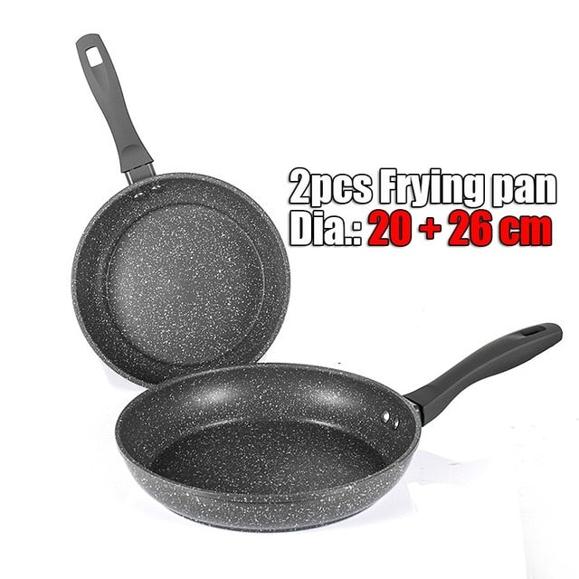 NonStick Frying Cooking Pan Set