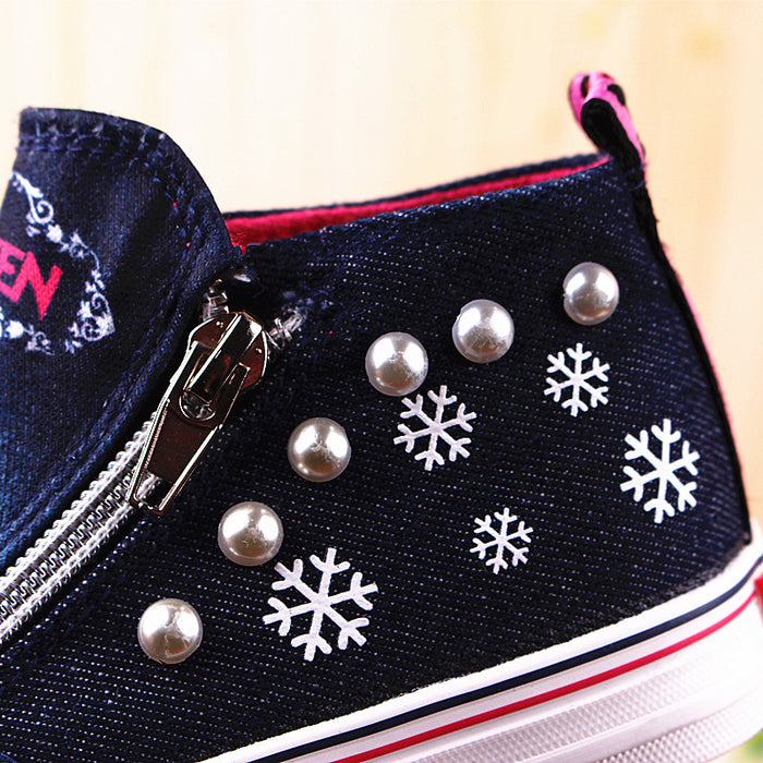 Frozen Children Casual High zipper Shoes
