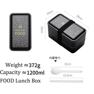 Portable Rectangular Lunch Box