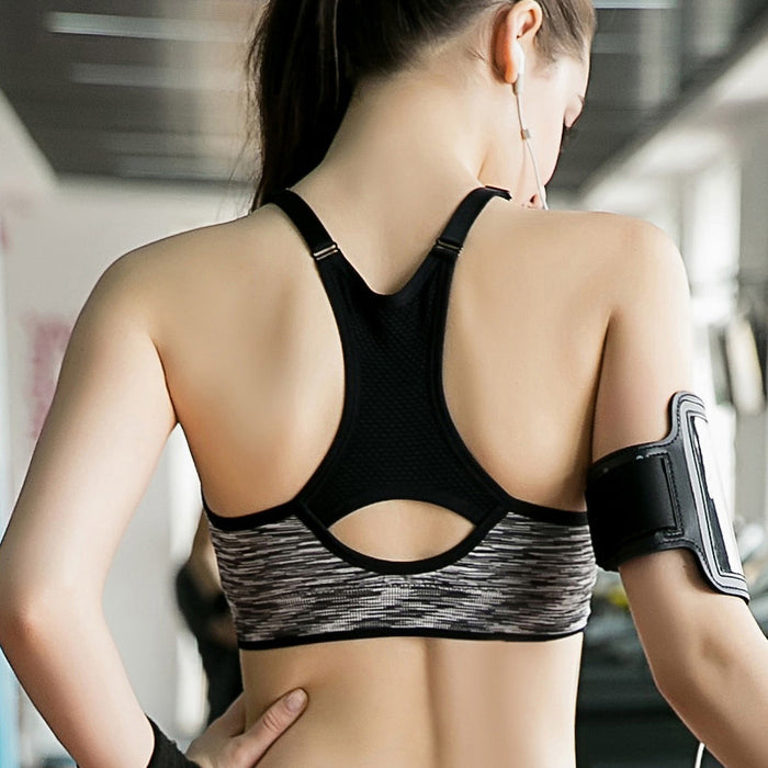 Women's Sports Bra For Running, Yoga, Gym with Adjustable Straps