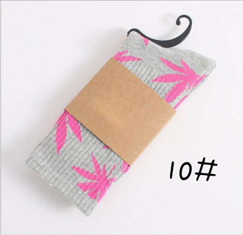 High Quality Style Weed Socks For Women Men's Hip Hop Cotton Skateboard Sock