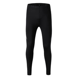 Men's Black Elastic Bodybuilding Leggings