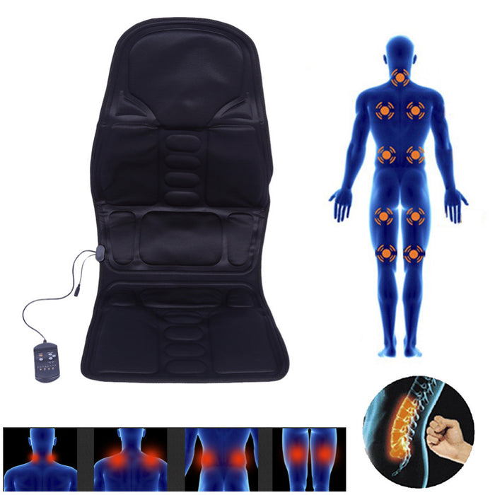 Full-Body Back Neck Lumbar Massage Chair Relaxation Pad with Seat Heat