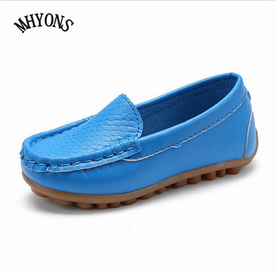 Toddler Boys Girls Loafer Soft Synthetic Leather Moccasin Flat Dress Shoes