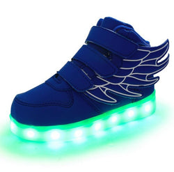 Children Fashion Sneakers with Led Lighted Shoes for Kids