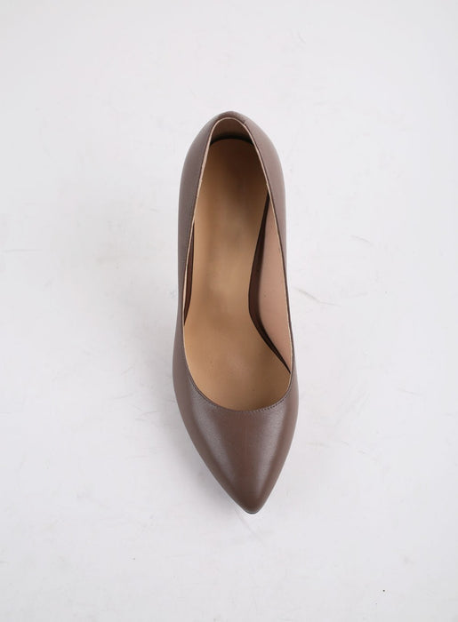 High Heels Pumps Luxury Fashion Genuine Leather Ladies Pumps