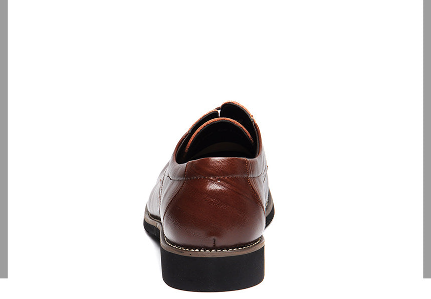 Genuine Leather Mens Dress Oxford Lace-Up Business Men Shoes