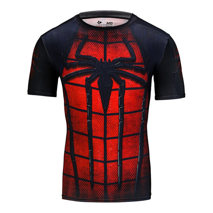 Marvel Batman Compression Short Sleeve Summer Men's T-shirt