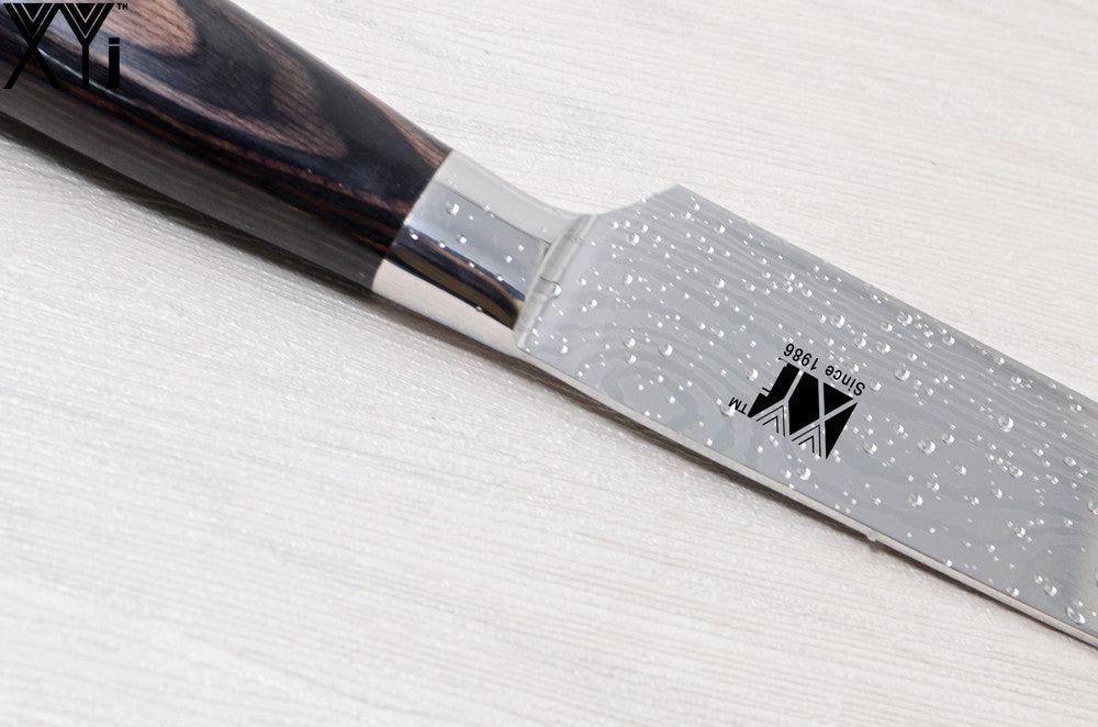 Japanese Kitchen Knife (High Quality Stainless Steel Pattern Blade Knife)
