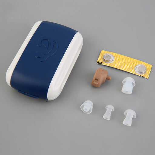Hearing Aid Portable Small Mini Personal Sound Amplifier In the Ear Tone Volume Adjustable Hearing Aids Care