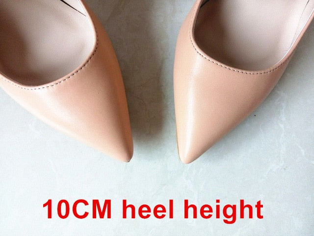 Woman High Heels Pumps Stilettos 12CM PU Leather Wedding Shoes