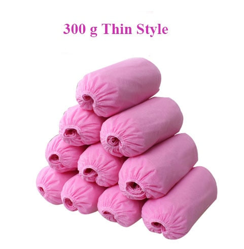100 Pieces Disposable Indoor Shoes Covers For Ladies and Mens