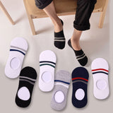Thin Invisible Ankle Socks Men Casual No Show Socks Non-Slip Male For Man 6 Pair