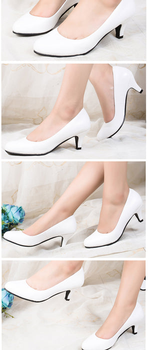 New Styles Pumps Fashion Sexy Round Toe Sweet Colorful Soft Women Shoes