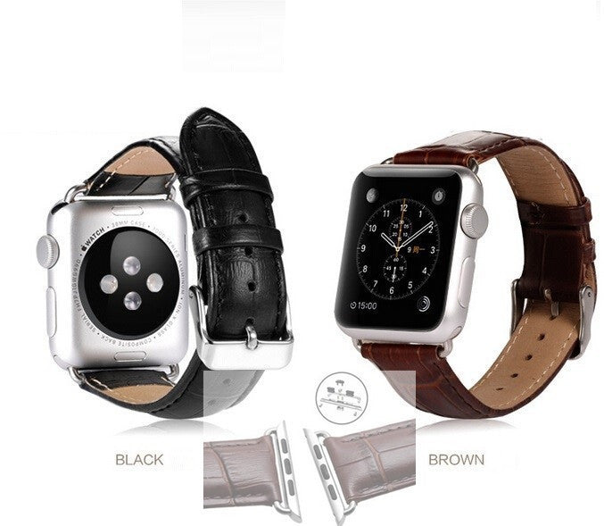 Genuine Leather Buckle Wrist  Band Belt iWatch 38mm 42mm for Apple Watch