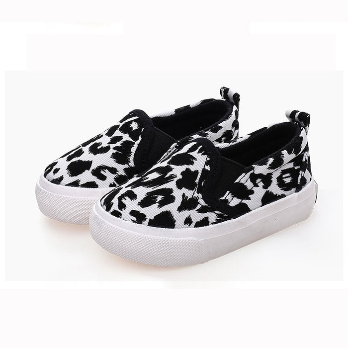 Children Girls Boys Casual Fashion Leopard Comfortable Canvas Sneakers