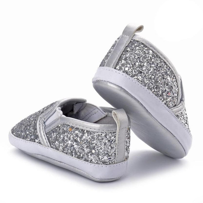 Newborn Girls Boys Crib Soft Sole Anti-slip Baby Sequins Shoes