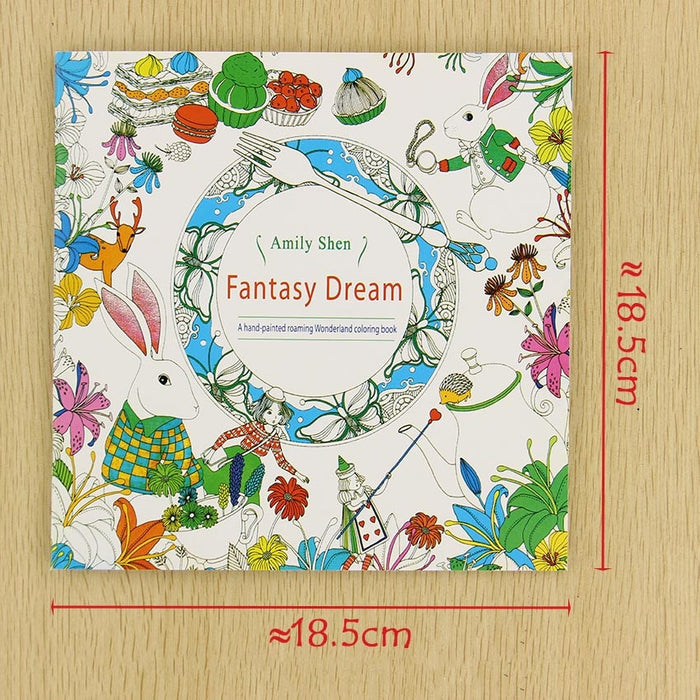 24 Pages Fantasy Dream English Edition Coloring Book For Children