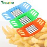 Potato Chips Cutter Stainless Steel Vegetable Square Slicer Cut Fries Household Kitchen Tools