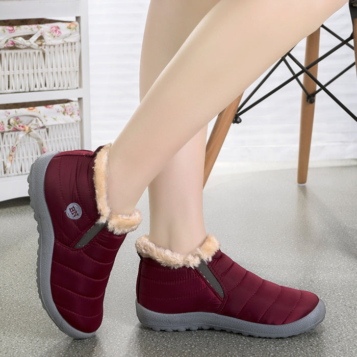 New Fashion Men Winter Shoes Solid Color Snow Boots