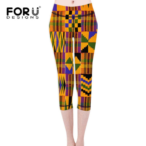 AfroFashion Women Fitness African Printed Style Calf-length Leggings