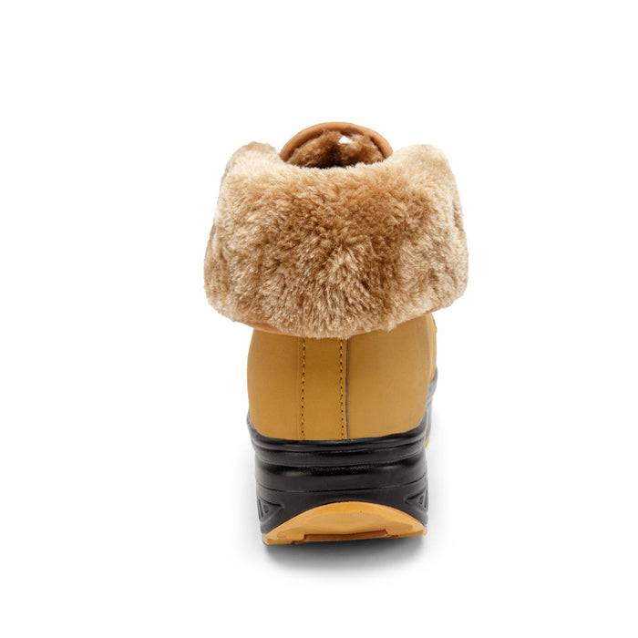 Women's Snow Boots Fur Lined Slip On Winter Shoes