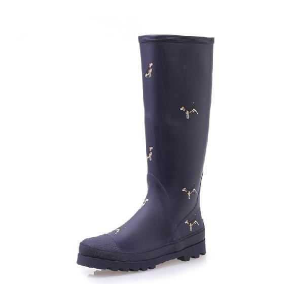 Women Rubber Rain Boots Anti-slip Animals Print Rain-boots