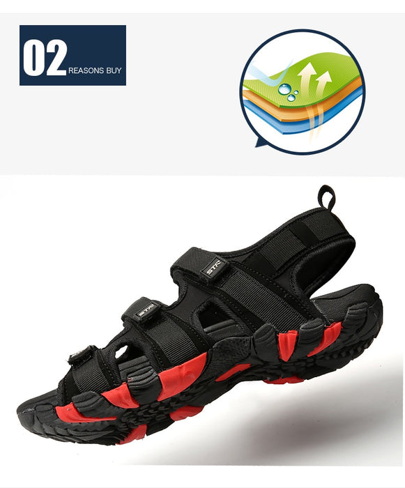 Men's Hook&loop Fashion Waterproof Casual Sandals