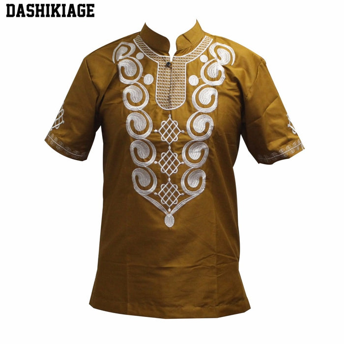 AfroFashion Men's Wonderful Colors Traditional Mali African Vintage Top