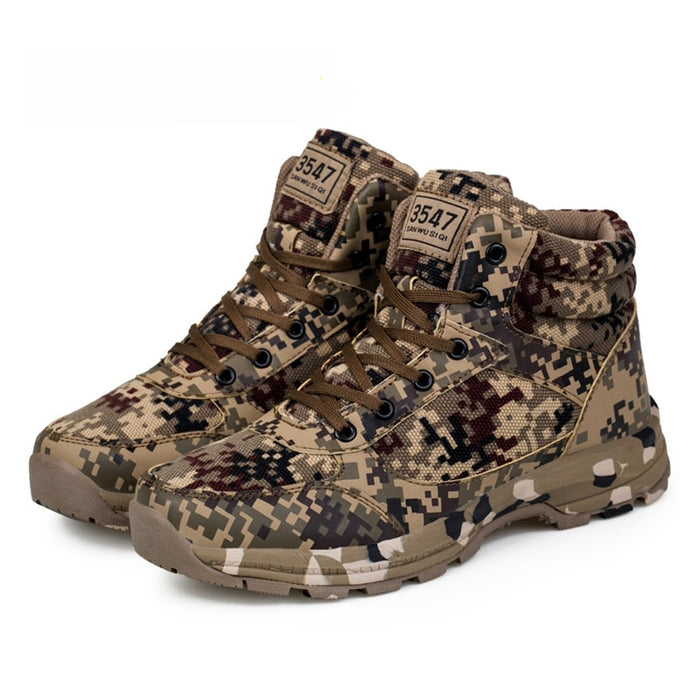 Tactical Men Camouflage Warm Cotton Army Trainer Footwear Military Ankle Boots
