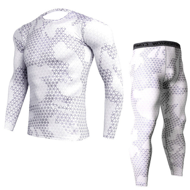 New Fitness Camo Men Compression 2Pcs/sets Sportswear MMA Mens Joggers Leggings Tights