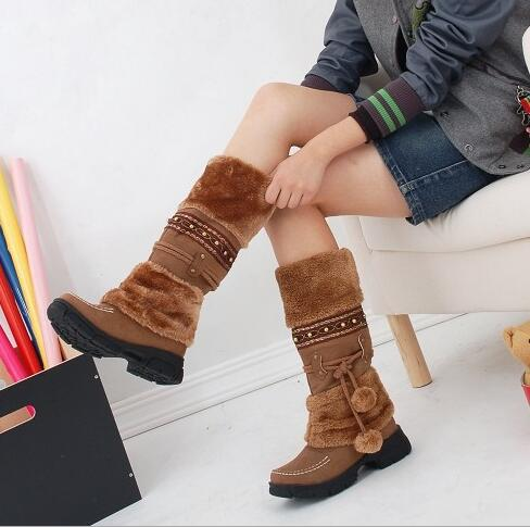 Winter Warm Martin Boots Thickened Fur High Heel Boots Women Shoes Fashion Sexy Long Snow Boots