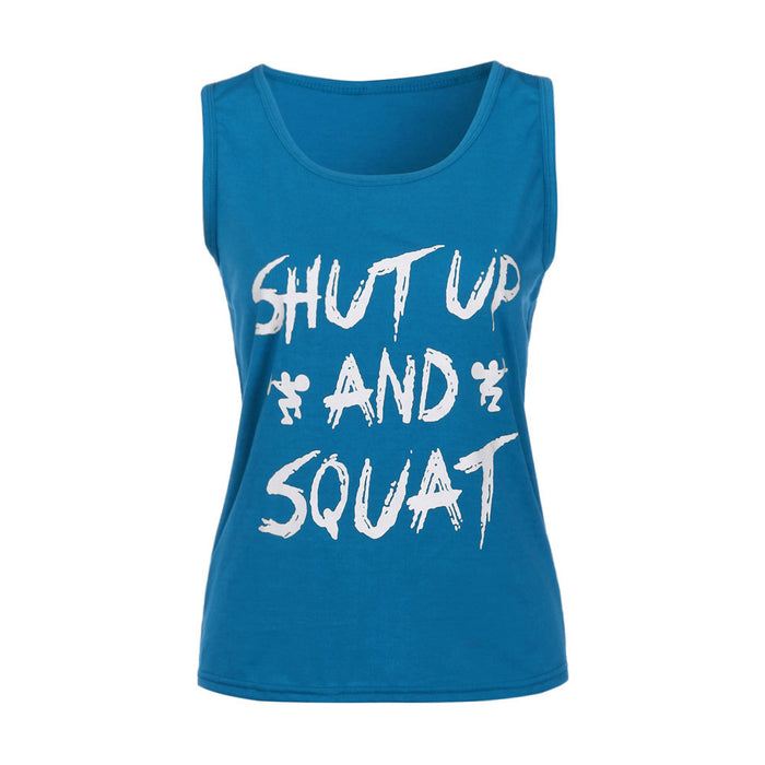 Women Workout Tank Top T-shirt - Gym Clothes Fitness Yoga Lift
