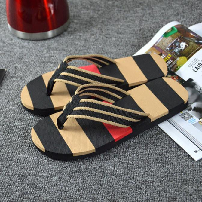 Men Summer Stripe Flip Flops Shoes Sandals Male Slipper Flip-flops