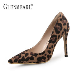 Sexy Women Pumps High Heels Shoes Spring Leopard Thin Heels