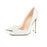 Women High Heels Pumps 10cm Black Stilettos Sexy Pointed Toe Shoes