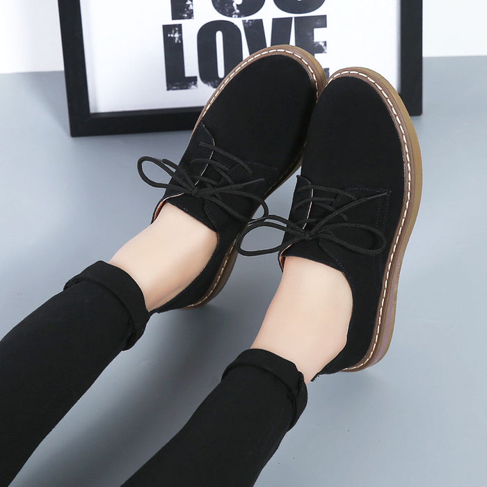 Suede Leather Flats  Casual Shoe