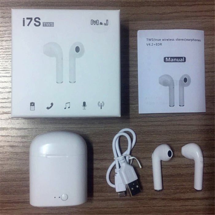 TWS Bluetooth i7s Mini True Wireless Earbud Headset For iPhone Android Charging Box
