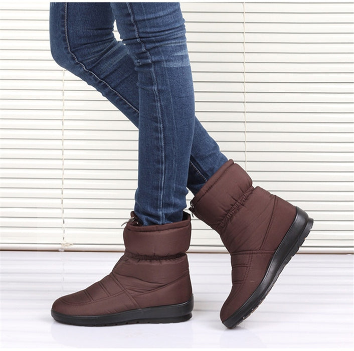 Women Snow Winter warm thick Bottom Platform Waterproof Ankle Boots