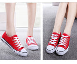 canvas shoes woman sneakers unisex lace-up breathable casual shoes