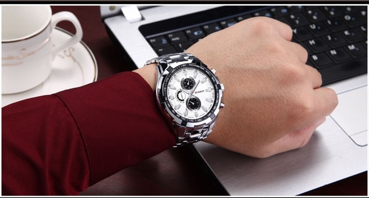 Fashion Luxury Brand quartz Wristwatch Gentleman