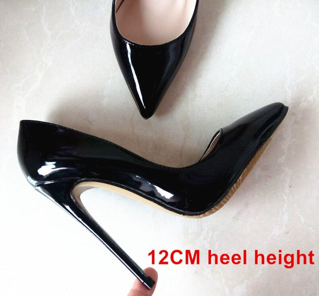 Woman High Heels Ladies Shoes 12CM Heels Pumps Sexy Black Beige Wedding Shoes