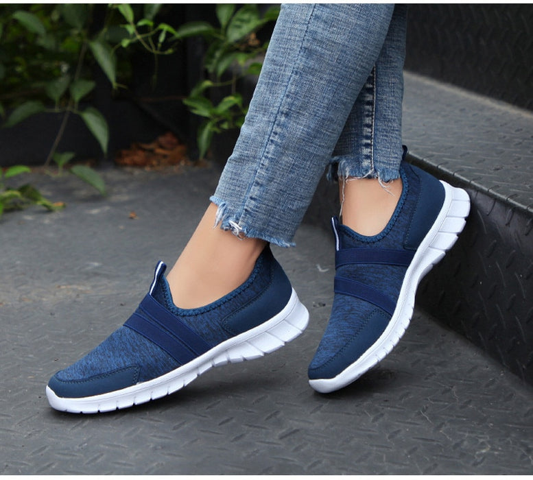Women Breathable Mesh Ballet Slip On Flats Loafers Ladies Sneakers